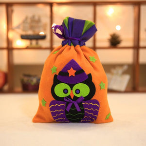 Halloween Brushed Cloth Candy Bag Halloween Decoration Props Supplies Party Favor Bags