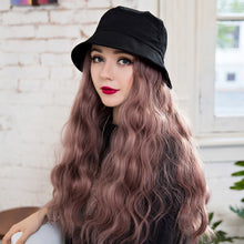 Load image into Gallery viewer, Fisherman Hat with Long Hair Wig Cap
