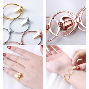 Punk Heart Telescopic  Bracelet &Folding Bracelets & Bangles Women Jewelry
