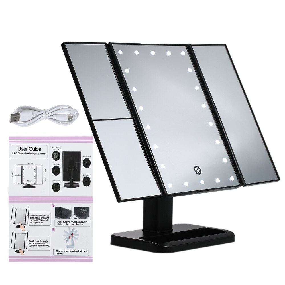 180 Degree Rotation Makeup 21 Led Vanity Mirror with Lights