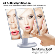 Load image into Gallery viewer, 180 Degree Rotation Makeup 21 Led Vanity Mirror with Lights