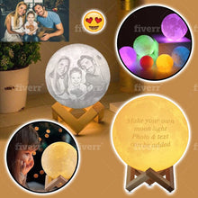 Load image into Gallery viewer, Personalized PHOTO 3D MOON LAMP