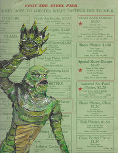 Creature from the Black Lagoon Menu 8X10 Art Print