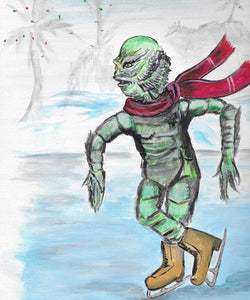 Ice Skating Creature 8x10 Print