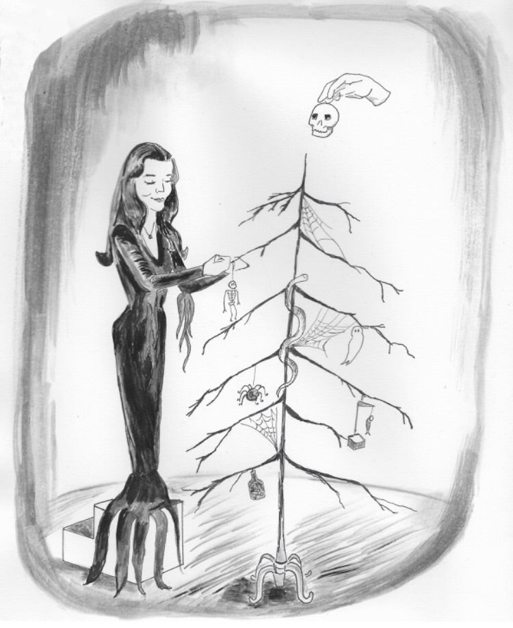 Addams Family Christmas Card, 5X7