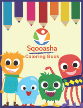Load image into Gallery viewer, Sqooasha Coloring Book