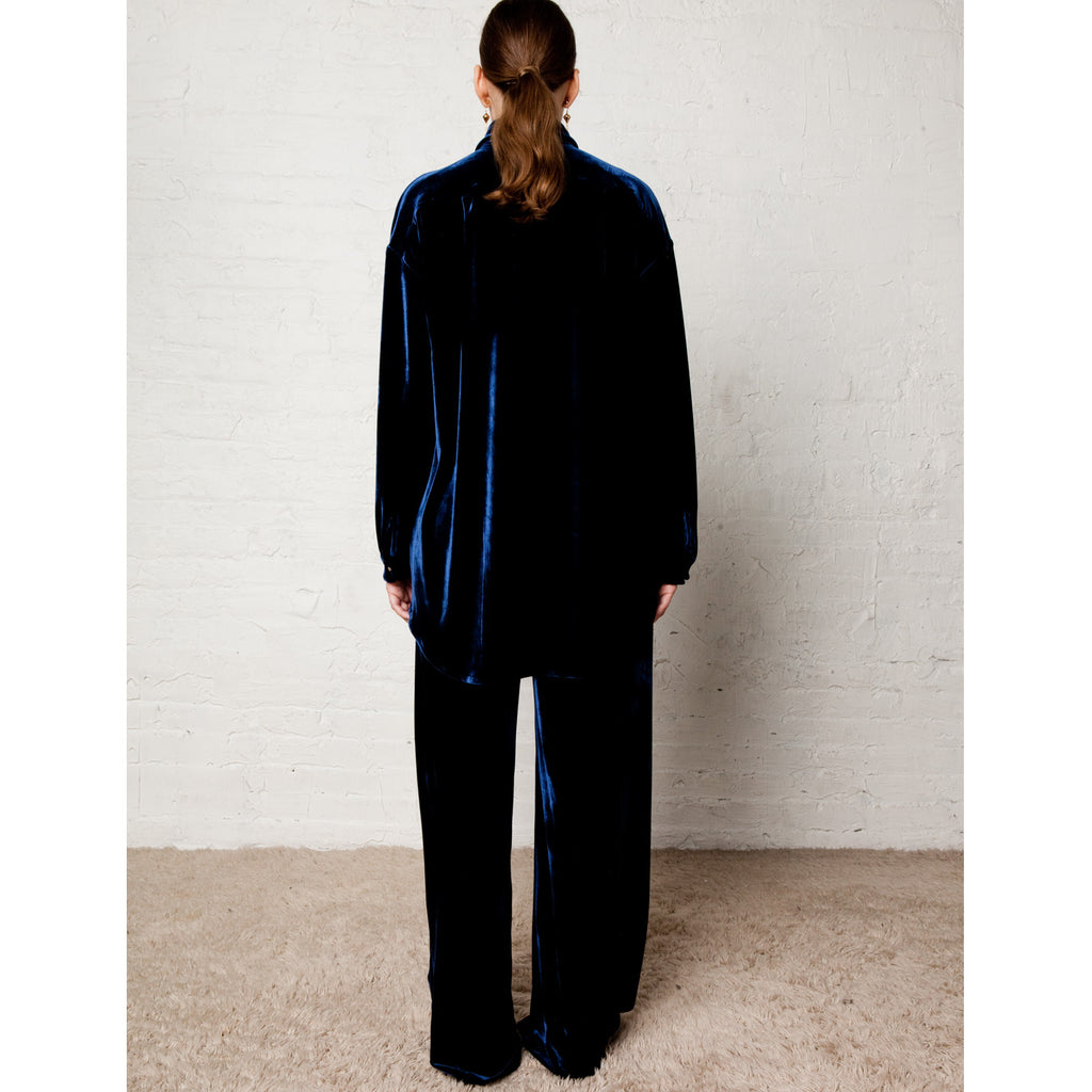 Blair Velvet Pajama Pant - Midnight Navy