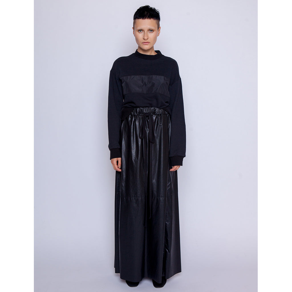Gabbie Maxi skirt - Vegan leather / Black