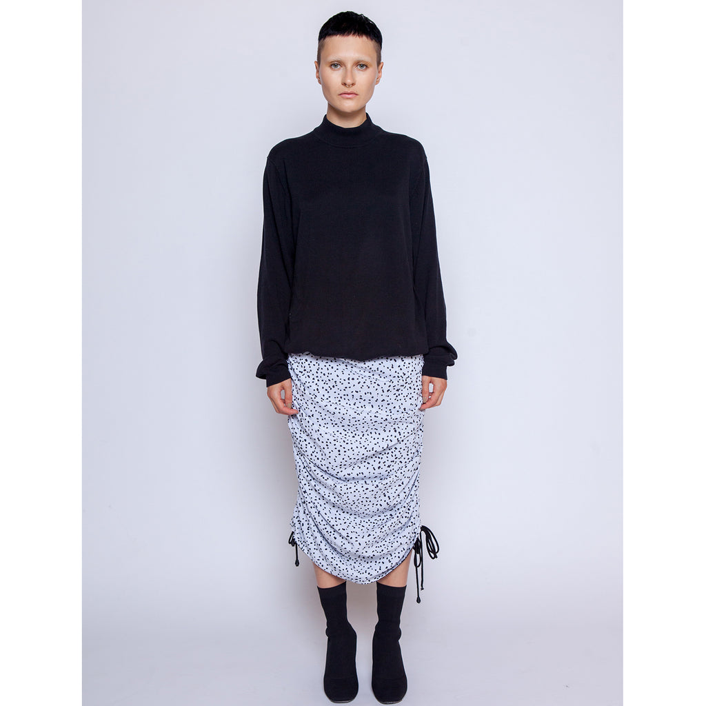 "Ivy Skirt - ""Splash Dot"" White"