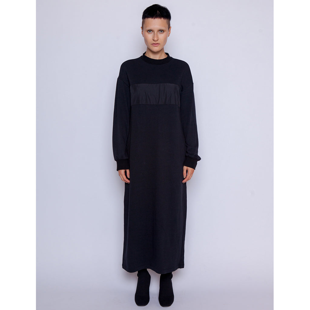 Marla Sweatshirt Dress - Black