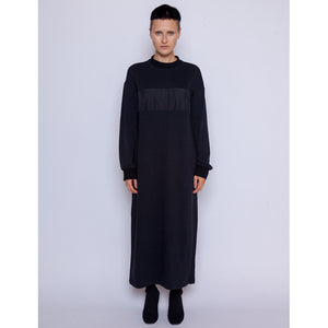 Marla Sweatshirt Dress/ Black