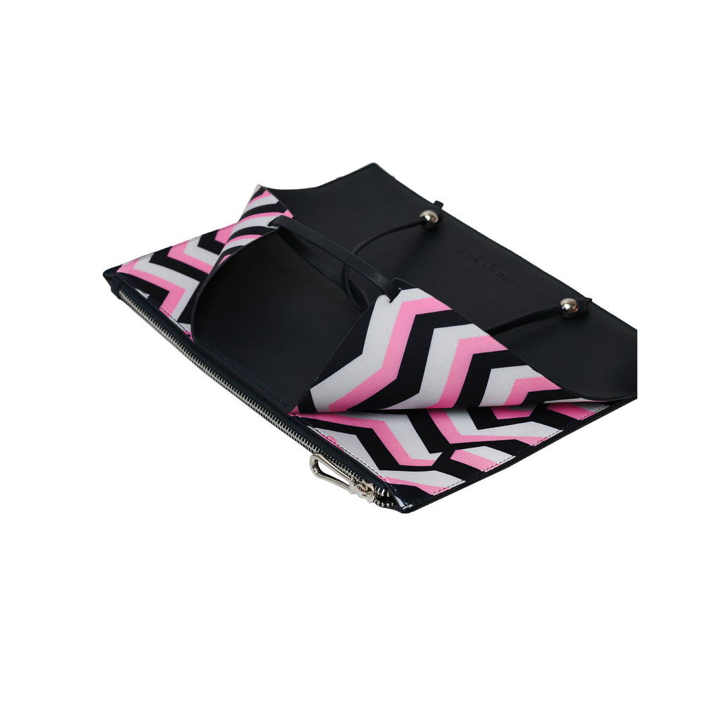 [Iri x Enda] Zigzag Highline Clutch - Flammingo