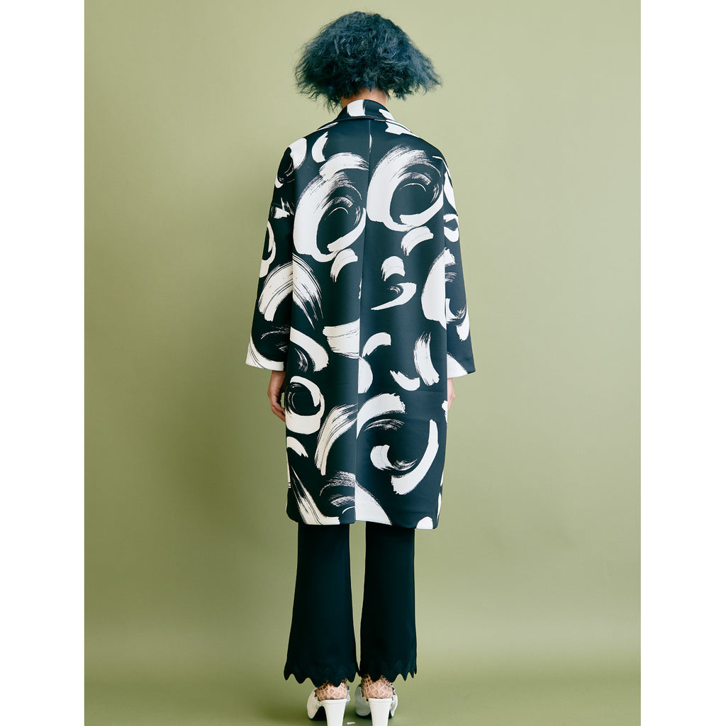 "Catherine Coat - ""Brush"" Black"