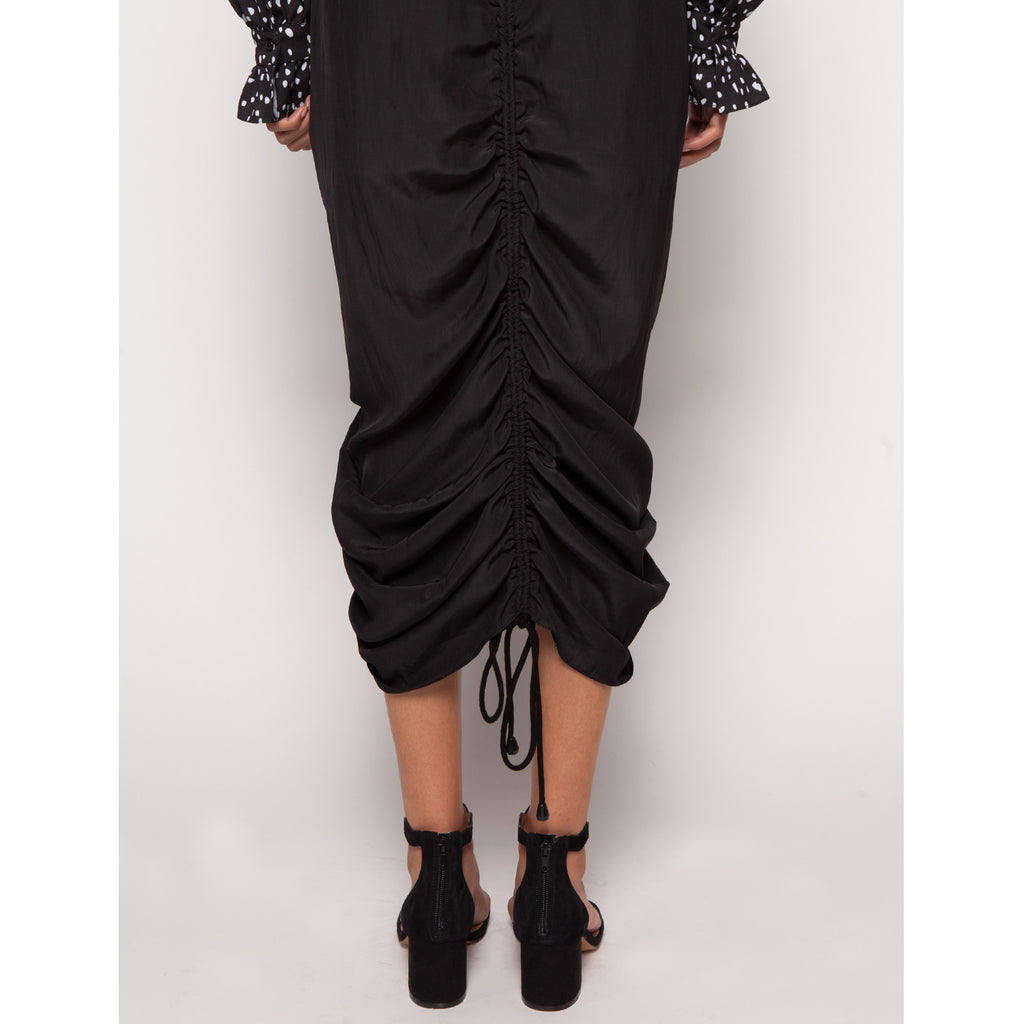 Ivy Skirt - Vegan Silk Black