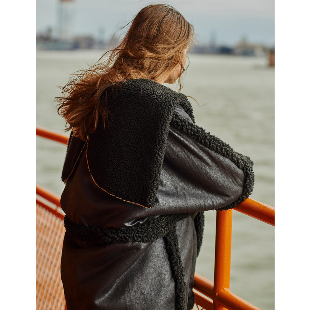 Sheepless Shearling Coat