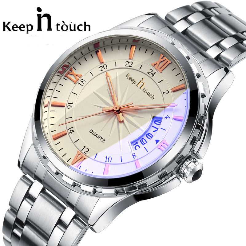 Luxury Stainless Steel Quartz-Watch