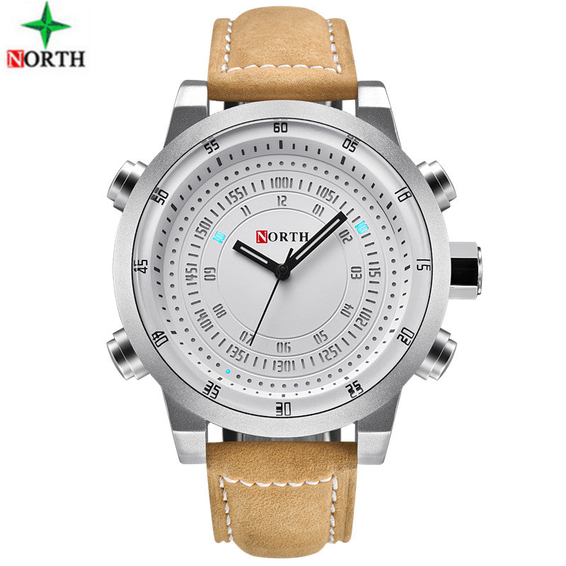 NORTH Digital Quartz Waterproof Mens Luxury Watches