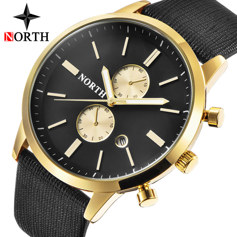 NORTH Luxury Quartz Gold Waterproof Watches