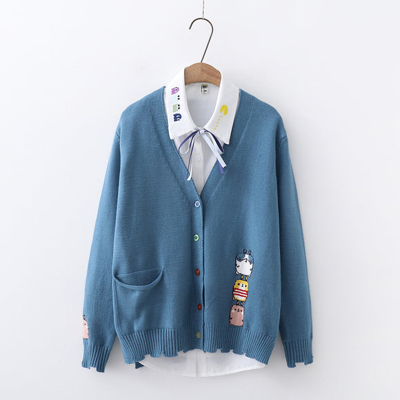 Colourful Button Cardigan