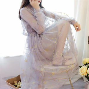 Starry Moon Gauze Two -Pieces Dress