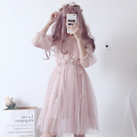 Fairy Floral Gauze Dress