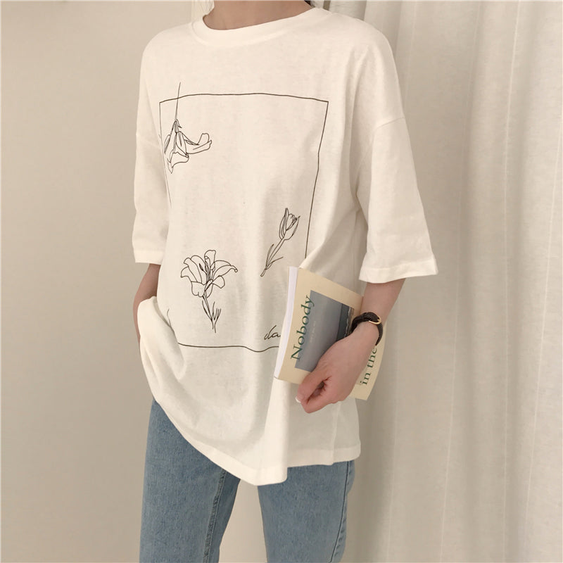 Loose Flower T-Shirt