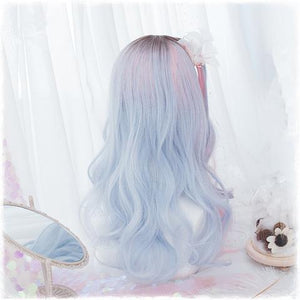 Pink/Blue Gradient Hime Wig