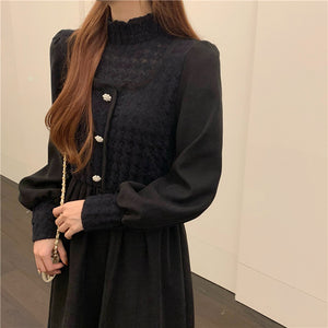 Autumn Mock Two-pieces Dress