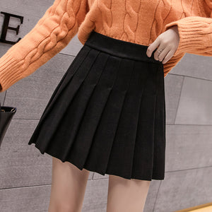 Autumn Preppy Pleated Skort