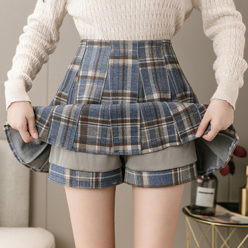 Autumn Preppy Pleated Skort pic