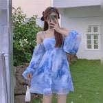 Blue Chiffon Dress pic