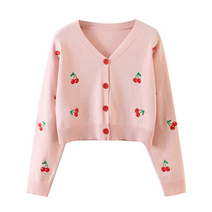 Cherry Crop Cardigan pic
