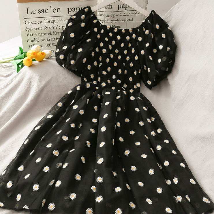 Daisy Puff Sleeve Dress