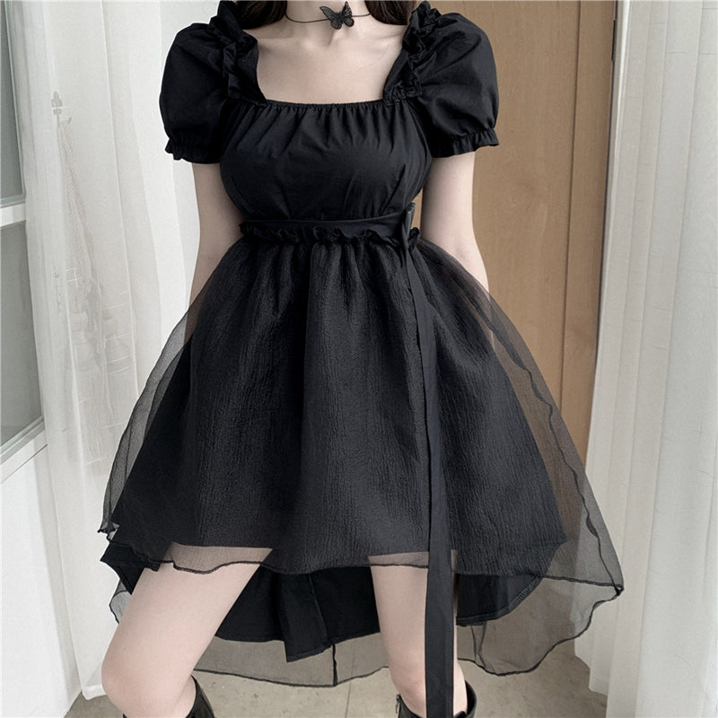 Dark Gauze Tutu Dress