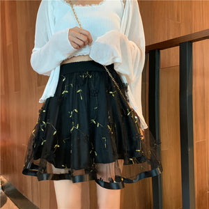 Flower Gauze Skirt