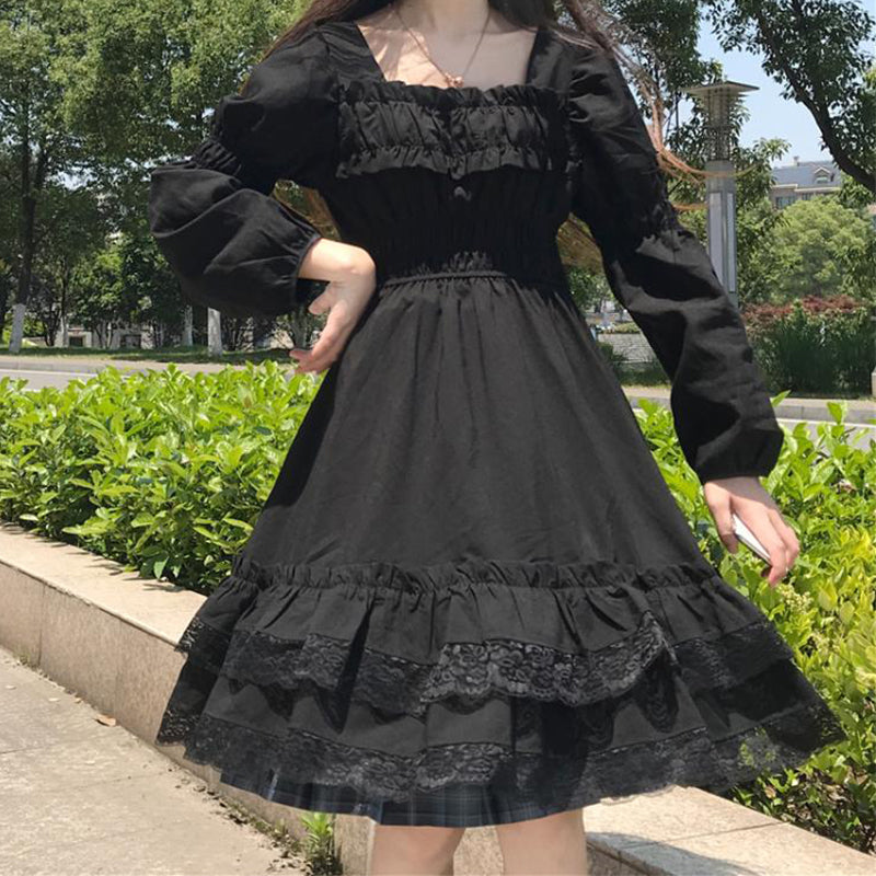 Gothic Ruffled Dress pic