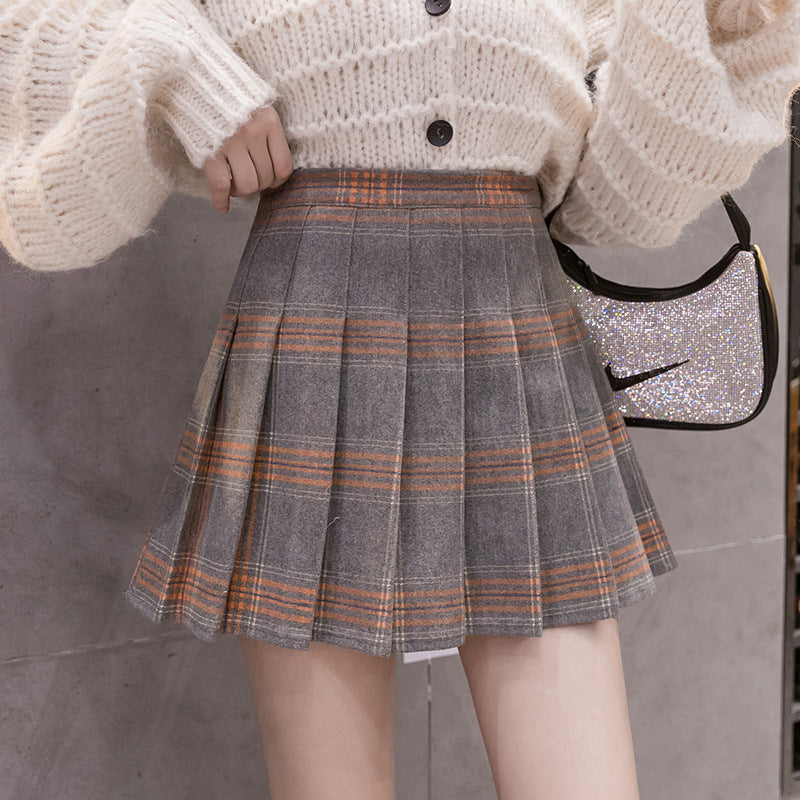 High-Waisted Pleated Skort