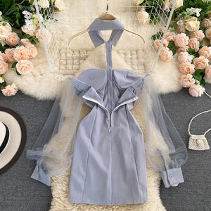 Hot Puff Sleeve Dress