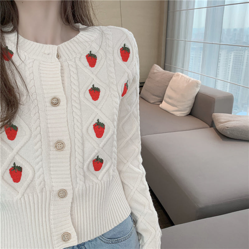 Kawaii Strawberry Cardigan
