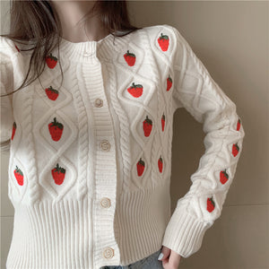 Kawaii Strawberry Cardigan pic