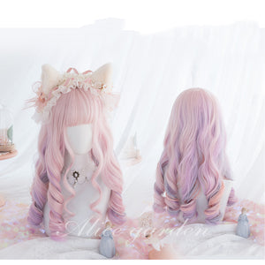 Pastel Rainbow Candy Wavy Wig pic