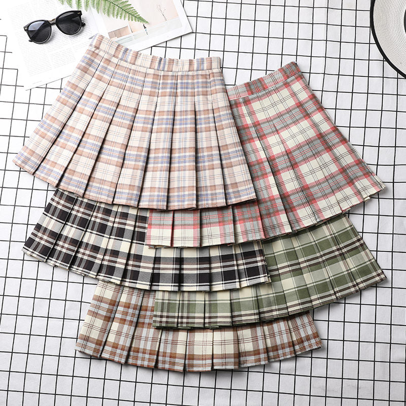Plaid Preppy Pleated Skirt pic