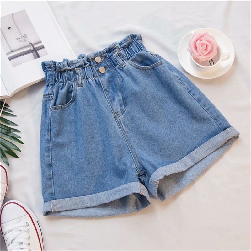 Preppy Denim Shorts