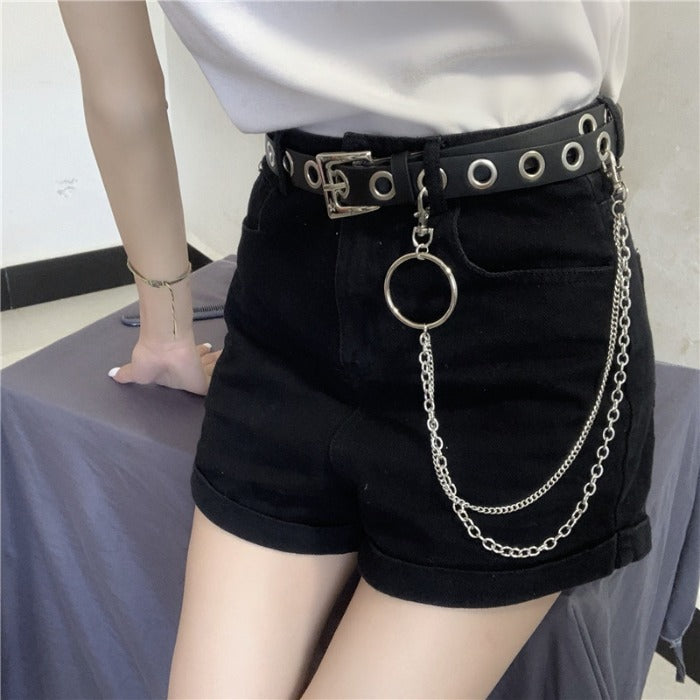 Punk Waist Belt W/ Chain