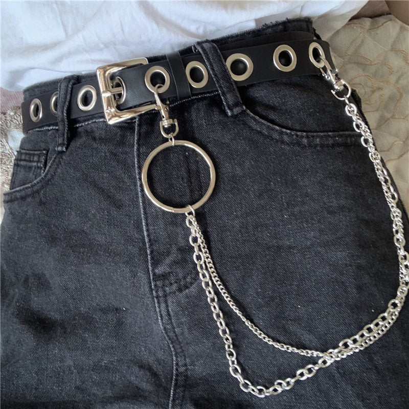 Punk Waist Belt W/ Chain pic