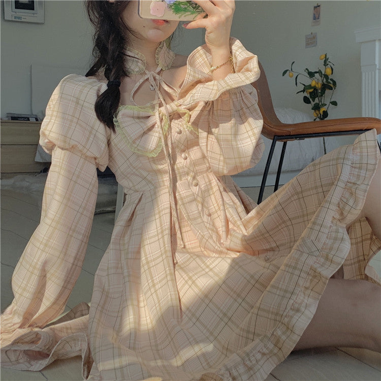 Retro Bowknot Lolita Dress