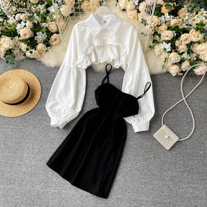 Soft Girl Look Two-pieces Dress