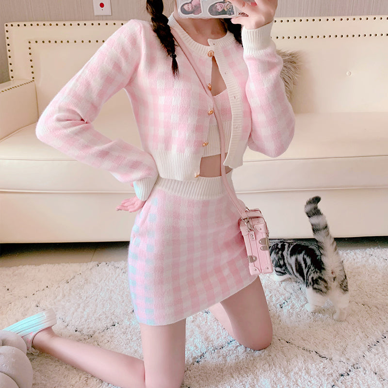 Soft Girl Spring 3 Pieces Outfits pic