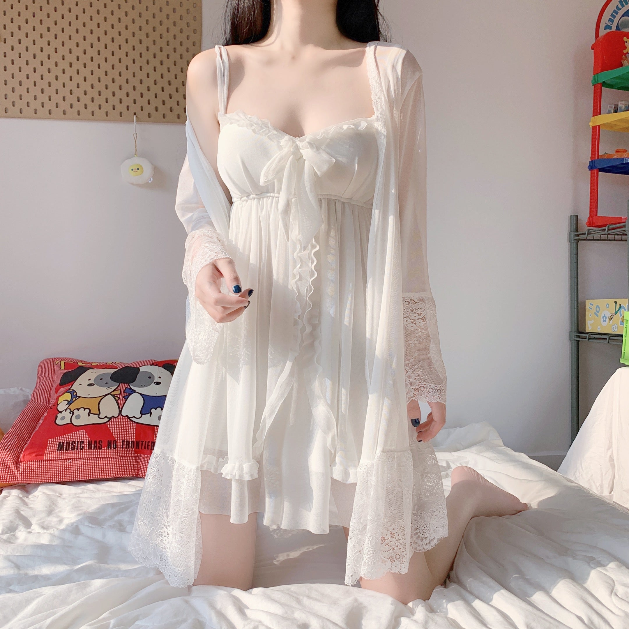 Summer Chiffon Sleepwear Dress pic