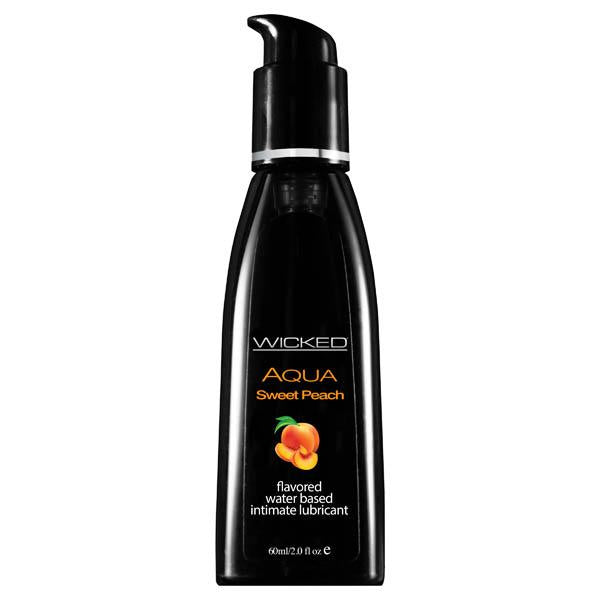 Wicked Aqua Sweet Peach - Sweet Peach Flavoured Water Based Lubricant - 60 ml (2 oz) Bottle
